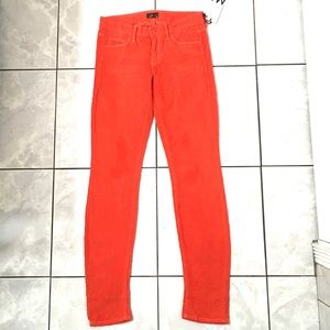 MOTHER Woman's Corduroy Cotton Skinny Pants